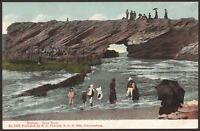 South Africa. Durban. Cave Rock. Postcard by R. O. Fusslein, Johannesburg