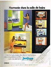 Publicité Advertising 1974 Ensemble de salle de bains Sanijura