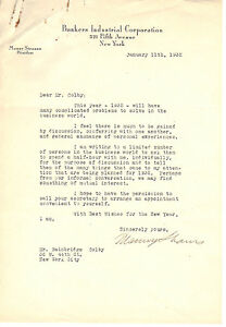 Manny Strauss (2 signed letters) in this AUCTION + gift