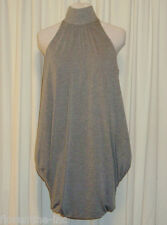 BEAUTIFUL SASS&BIDE GREY MARLE HIGH NECK MINI DRESS 42/6 (AUS 12/14)