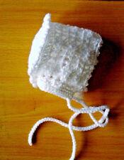 Handmade Hand Crocheted Baby Girl Filet Hat/Bonnet  acrylic  various sizes/cols.