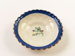 Miniature Artisan Painted China Console Bowl signed RON '86 for Dollhouse E190
