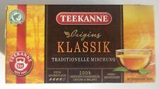 TEEKANNE tea KLASSIK classic black tea 20 bags tags India Malawi