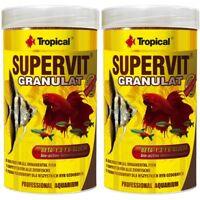 2 x Tropical SuperVit Granulat 1000 ml Fische Zierfische Hauptfutter (12,90 €/L)