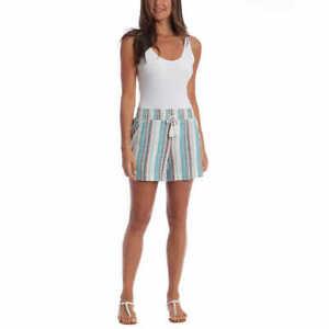 NEW!! Briggs Women's Comfort Stretch Waistband Linen Blend Shorts Variety #170