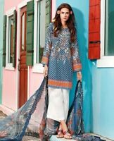 GUL AHMED 3 PIECE CHANTILLY De LACE EMBROIDERED SUIT. UNSTITCHED-CT 173