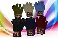 Lot of 6 Pairs Magic Unisex Knit Gloves Warm Solid Soft Winter Cozy One Size 002