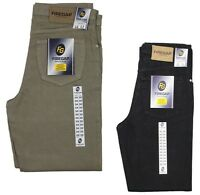 NEW MENS JEANS FIRE GAP WORK DENIM JEANS IN BLACK & BEIGE COLOURS SPECIAL OFFER
