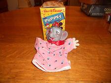 Walt Disney's Gund Dumbo Vintage Hand Puppet In Original Window Box Rare 1960's