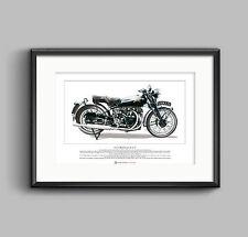 Vincent Black Shadow Series C Limited Edition Fine Art Print A3 size