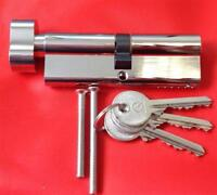 Thumb turn Euro Cylinder - all sizes available - c/w 10 keys per lock