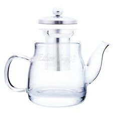 Heat Resistant Glass Teapot Tea Pot Coffee Stainless Tea Leaf Filter Infuser