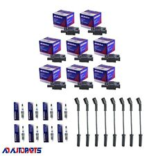 8 OEM BS-C1511 Ignition Coils + 8 41-962 Spark Plugs + 8 Herlux Plug Wires