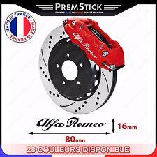 Kit 4 Stickers Etrier de Frein Alfa Roméo ref2; Auto voiture autocollant
