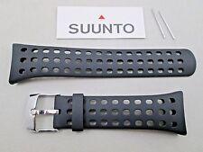 Genuine Suunto M5 male men's black rubber watch band strap includes pins