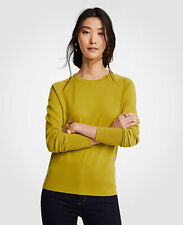 NWT Ann Taylor Shoulder Cutout Sweater Size XS Yellow Lime