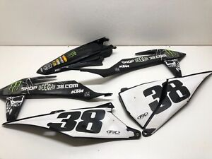 2020 KTM 450 SX-F Plastic Set Kit Black Brian Deegan Shop 38 KTM 125-450 2019-21