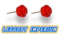 LEGO Custom Stud Earrings - Red - FREE POST