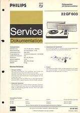 Philips Original Service Manual für Phono 22 GF 603