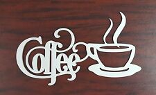 "Coffee Sign with Mug 14"" x 7"" - Metal Kitchen Bistro Wall Decor UNFINISHED"