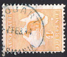 1913 4d Orange Roo / Kangaroo Australia 1st WMK HOBART TAS 1914 CDS   REF: 4DR08