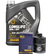 5 Liter Motoröl 5W30 Mannol 50700 Longlive 1x Ölfilter SCT Inspektionspaket