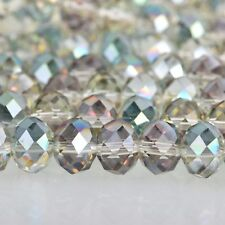 10mm NORTHERN LIGHTS RONDELLE Faceted Crystal Glass Beads, 34 beads, bgl1620