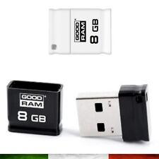 MINI PENDRIVE PENNA PENNETTA CHIAVE CHIAVETTA USB GOODRAM 8GB USB 2.0 8 GB