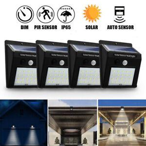 20 LEDs Solar Power PIR Motion Sensor Wall Light Outdoor Garden Lamp   W J R