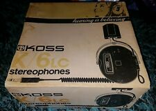 RARE VINTAGE KOSS K/6 LC  Stereophones Box Circa 1970s era CollectableHeadphones