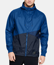 Under Armour Men's Royal Blue UA Unstoppable Windbreaker Hooded Full Zip Jacket
