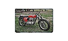 Bsa Spitfire Motorbike Sign Metal Retro Aged Aluminium Bike