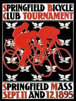 EXHIBITION CULTURAL SPORT COMPETITION SPRINGFIELD BICYCLE CLUB USA POSTER 1739PY