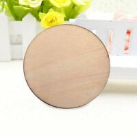 50pcs 30mm Unfinished Wooden Round Discs Embellishments Art Rustic DIY Craf W5D8