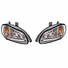 Pair Set of Two Halogen Headlights Assemblies for Freightliner M2 106 112 03-18