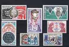 France 7 timbres non oblitérés gomme**  23 Commémoration de guerres
