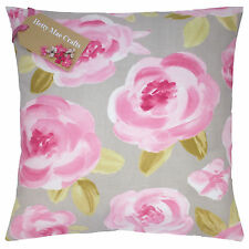 Vintage/Shabby Chic Clarke and Clarke Elodie Summer  pink fabric Cushion Cover