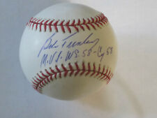 Bob Turley Autograph Signed Baseball New York Yankees WS MVP 58 CY 58
