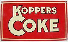 KOPPERS COKE Porcelain Sign Coal Mining Fuel Oil Company Advertising