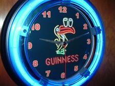 Guinness Toucan Irish Stout Beer Bar Advertising Man Cave Neon Clock Sign