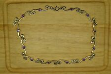 "16"" 925 STERLING SILVER SWIRLY LINK CHAIN NECKLACE WITH AMETHYST #20433"