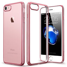 New Hybrid Skin Transparent Case TPU Gel Cover For Apple iPhone 8 7 5s 6s SE X