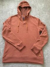 Mens Bass Pull Over Hooded Sweater Size Large