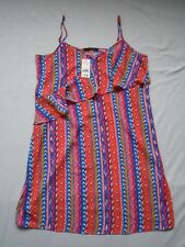 BNWT Multi colour chevron/geometric print frill detail camisole summer top UK 16