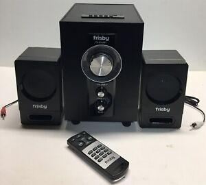 Frisby FS-6100BT Bluetooth Wireless 2.1 Ch Subwoofer Speaker System w/ Remote