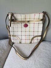 COACH Peyton Tattersall Crossbody Messenger Plaid Bag *Used Once*