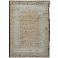 Thick-Plush Bordered Moroccan Shaggy Hand-Knotted Oriental Area Rug 8x12 Carpet