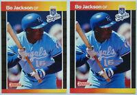 1989 DONRUSS BASEBALL Bo Jackson 2x Card Lot NM #208 Royals Angels Raiders Nike
