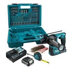 MAKITA HR140DWAE1 12V SDS+ Drill, 2 x 2.0Ah Batteries, Charger & Accessories Set