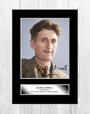 George Orwell author A4 reproduction autograph poster with choice of frame